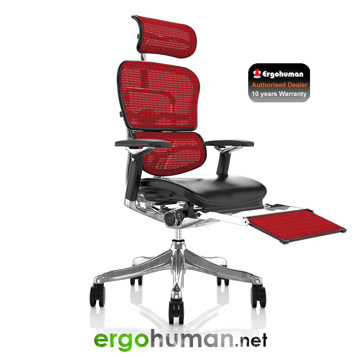 Ergohuman Chair with Leg Rest